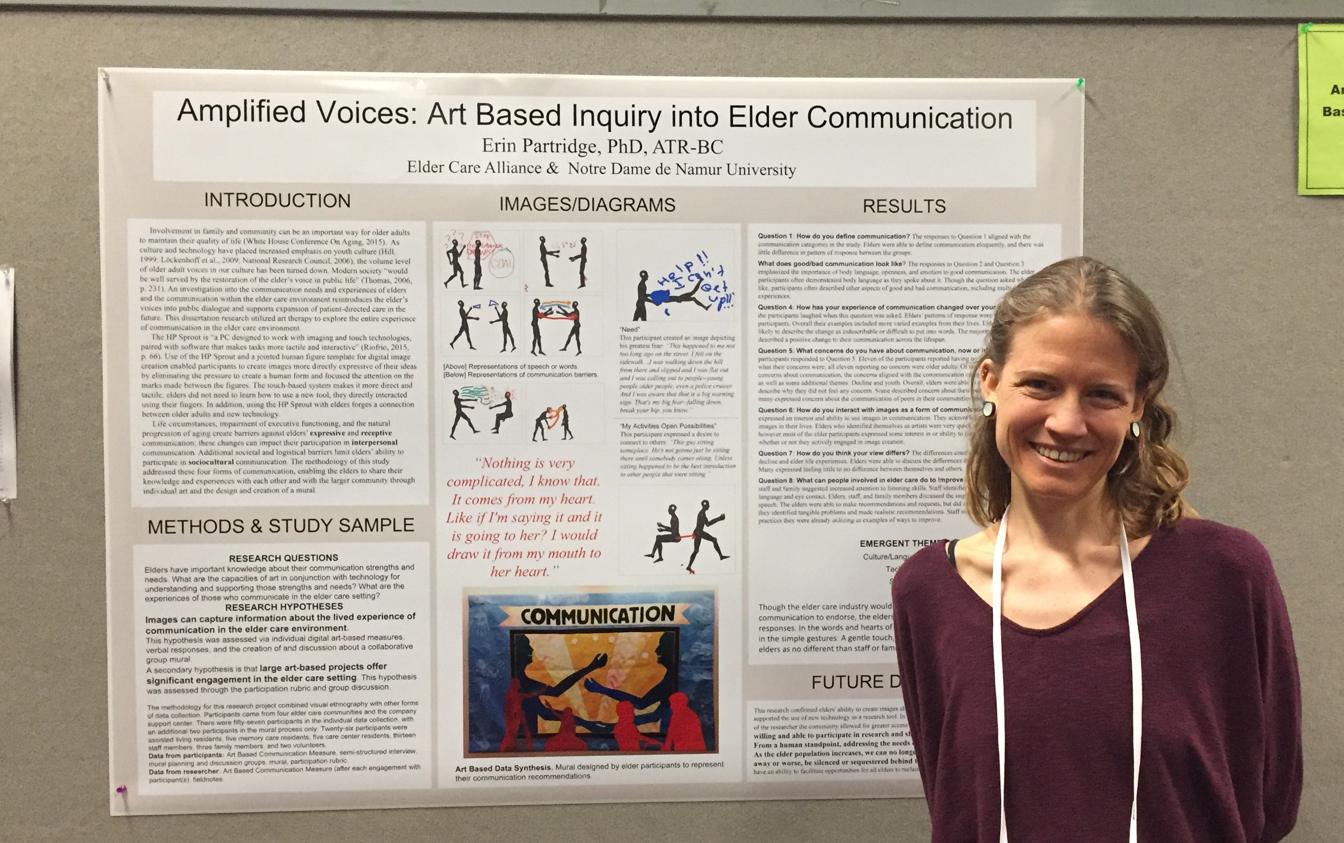 Erin Partridge with Poster