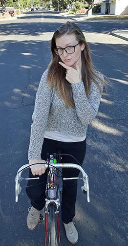 Student commuter Samantha Rupel